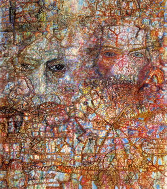 Pavel Filonov Faces - Canvas Art Print