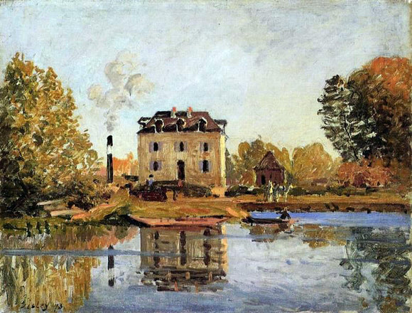 Alfred Sisley Factory in the Flood, Bougival - Canvas Art Print