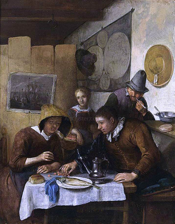 Richard Brakenburg Family Having Breakfast - Canvas Art Print