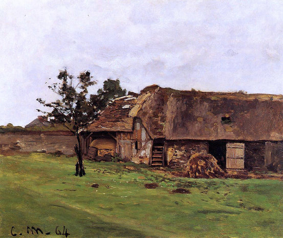 Claude Oscar Monet Farm near Honfleur - Canvas Art Print