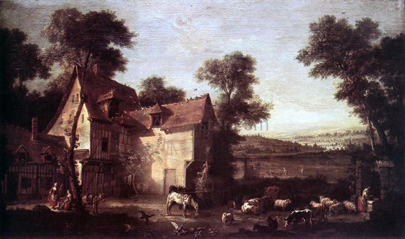 Jean-Baptiste Oudry The Farmhouse - Canvas Art Print