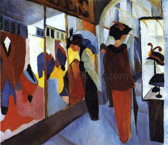August Macke A Fashion Shop - Canvas Art Print