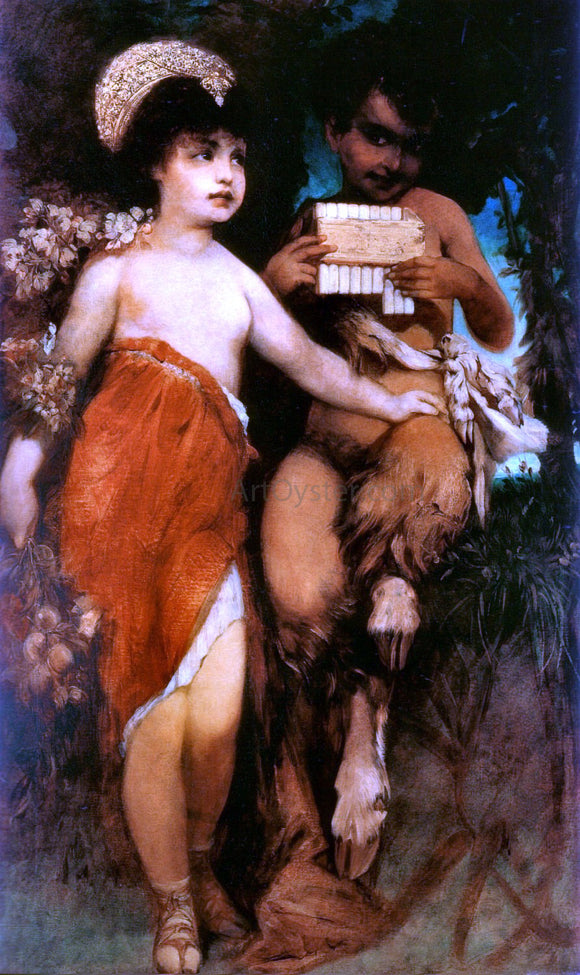Hans Makart Faun und Nymph - Canvas Art Print