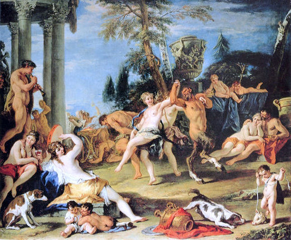 Sebastiano Ricci Feast in Honour of Pan - Canvas Art Print