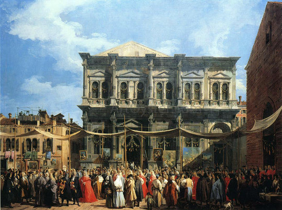 Canaletto Feast of San Rocco (also known as The Doge Visiting the Church and Scuola di S. Rocco) - Canvas Art Print