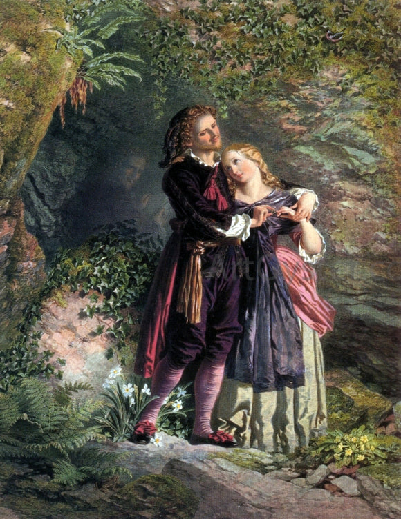 Henry Anelay Ferdinand and Miranda - Canvas Art Print