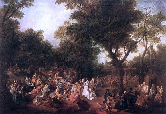 Nicolas Lancret Fete in a Wood - Canvas Art Print