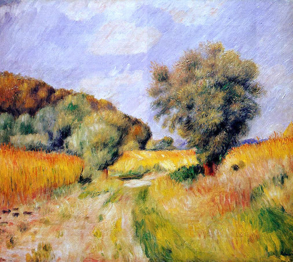 Pierre Auguste Renoir Fields of Wheat - Canvas Art Print