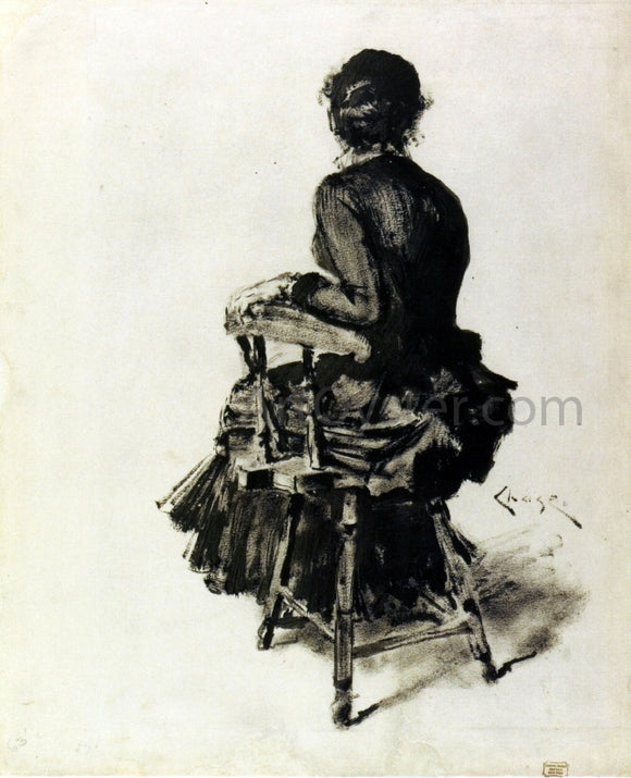 William Merritt Chase Figure Study (I) - Canvas Art Print