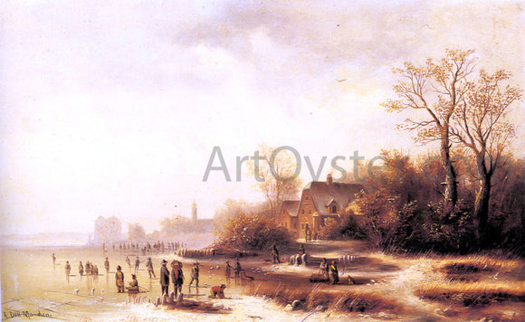 Anton Doll Figures in a Frozen Winter Landscape - Canvas Art Print