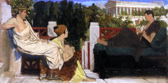 Sir Lawrence Alma-Tadema Figures on the Terrace by the Acropolis - Canvas Art Print