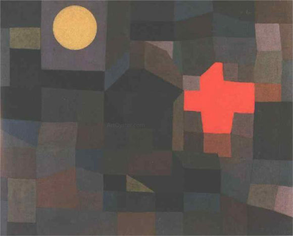 Paul Klee Fire Full Moon - Canvas Art Print