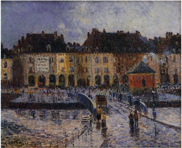 Gustave Loiseau Fish Market at the Port of Dieppe - Canvas Art Print