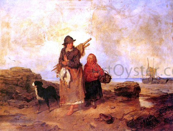 Isaac Henzell Fisherfolk - Canvas Art Print