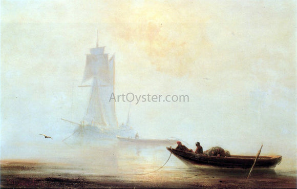 Ivan Constantinovich Aivazovsky Fishing Boats in a Harbor - Canvas Art Print