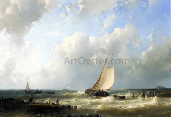 Senior Abraham Hulk Fishing Boats Setting Out - Canvas Art Print