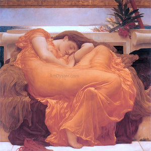 Lord Frederick Leighton Flaming June - Canvas Art Print
