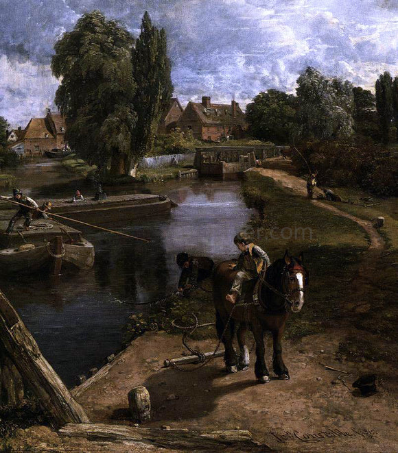 John Constable Flatford Mill (detail) - Canvas Art Print