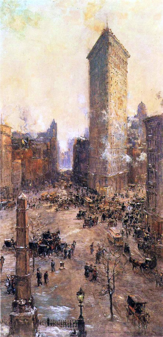 Colin Campbell Cooper Flatiron Building - Canvas Art Print