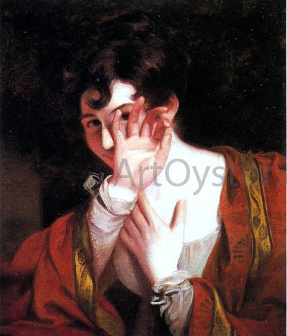 Thomas Sully Flirtation - Canvas Art Print