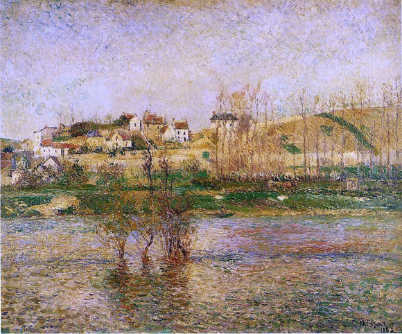 Camille Pissarro Flood in Pontoise - Canvas Art Print