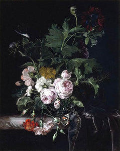 Willem Van Aelst Flower Still-Life - Canvas Art Print