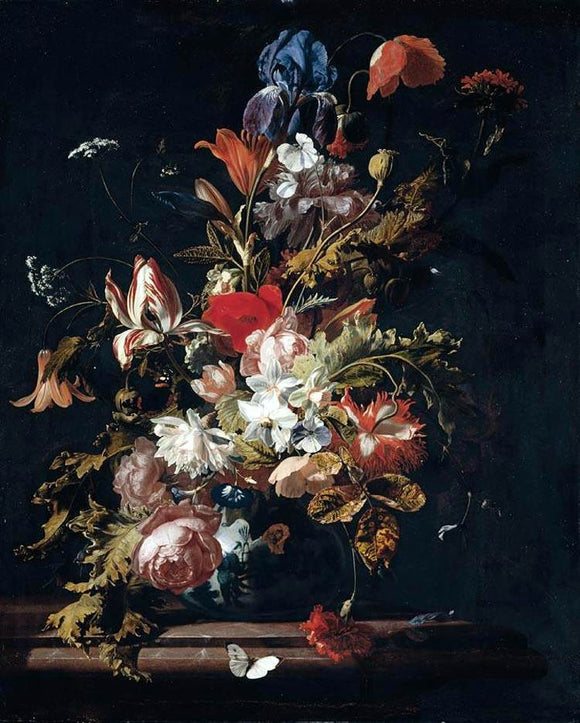 Simon Pietersz Verelst Flower Still-Life - Canvas Art Print
