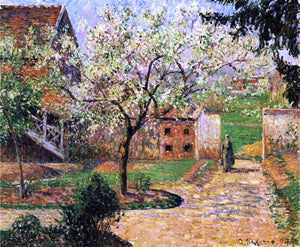 Camille Pissarro Flowering Plum Tree, Eragny - Canvas Art Print