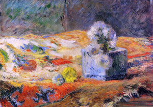 Paul Gauguin Flowers and Carpet - Canvas Art Print