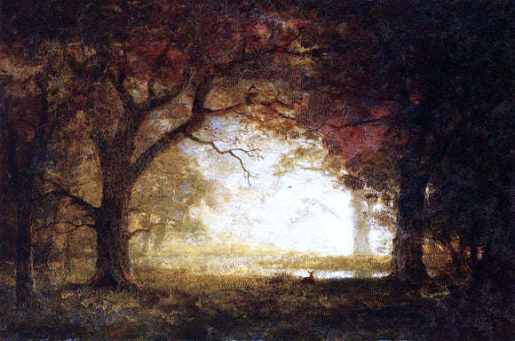 Albert Bierstadt Forest Sunrise - Canvas Art Print