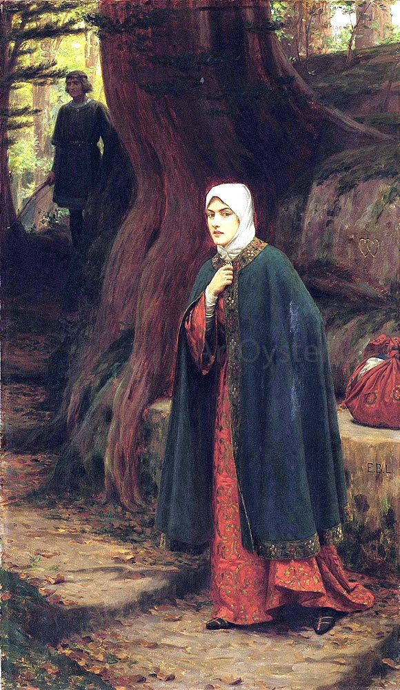 Edmund Blair Leighton Forest Tryst - Canvas Art Print