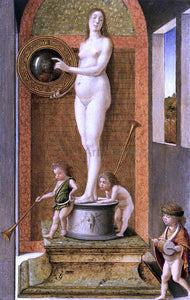 Giovanni Bellini Four Allegories: Prudence (or Vanity) - Canvas Art Print