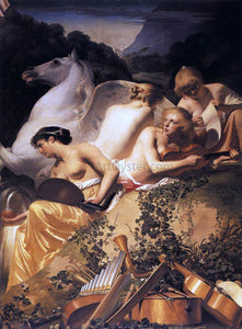 Caesar Van Everdingen Four Muses and Pegasus on Parnassus - Canvas Art Print