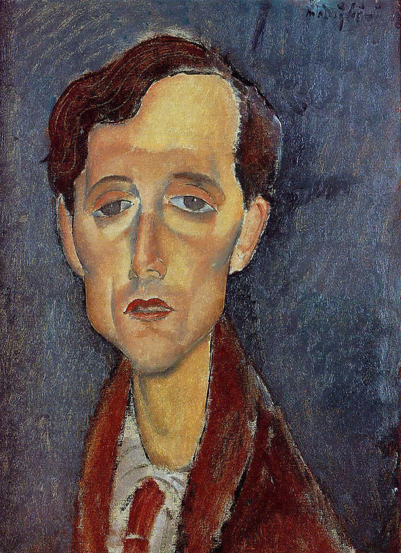 Amedeo Modigliani Frans Hellens - Canvas Art Print
