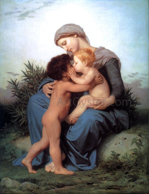 William Adolphe Bouguereau Fraternal Love - Canvas Art Print