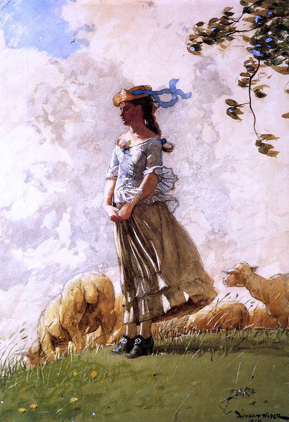 Winslow Homer Fresh Air - Canvas Art Print