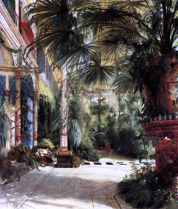 Carl Blechen Friedrich Wilhelm III's Palm Court - Canvas Art Print