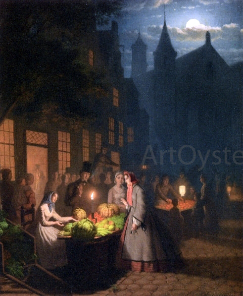 Johann Mongles Culverhouse Fruit and Vegetable Market - Canvas Art Print