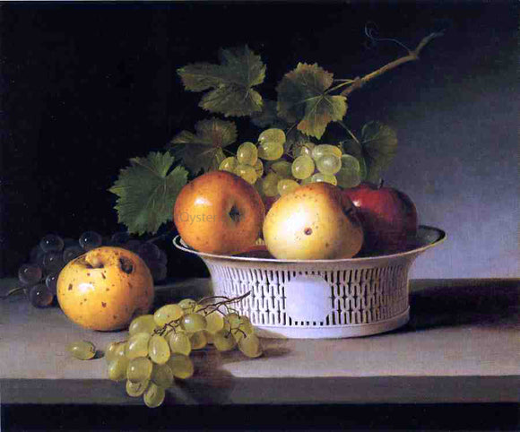 James Peale Fruit Still Life with Chinese Export Basket - Canvas Art Print