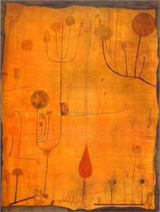 Paul Klee Fruits on Red - Canvas Art Print
