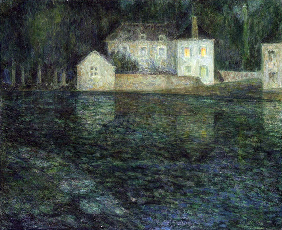 Henri Le Sidaner Full Moon on the River - Canvas Art Print