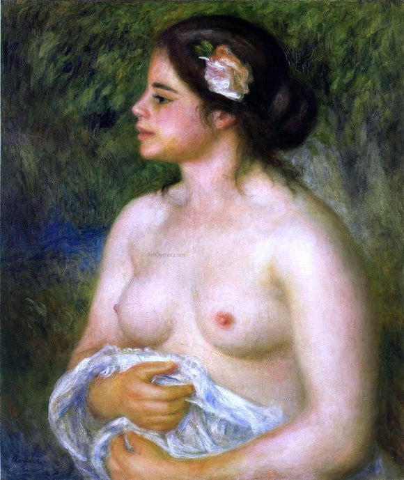 Pierre Auguste Renoir Gabrielle with a Rose (also known as The Sicilian Woman) - Canvas Art Print
