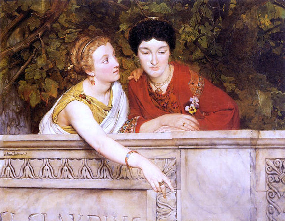 Sir Lawrence Alma-Tadema Gallo-Roman Women - Canvas Art Print