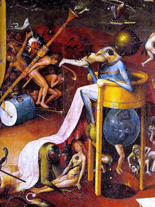 Hieronymus Bosch Garden of Earthly Delights [detail] - Canvas Art Print