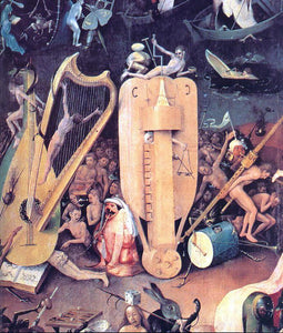 Hieronymus Bosch Garden of Earthly Delights, detail of right wing - Canvas Art Print