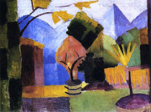 August Macke Garden on Lake of Thun - Canvas Art Print