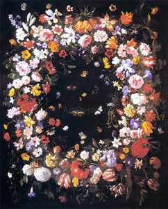 Pier Francesco Cittadini Garland of Flowers - Canvas Art Print