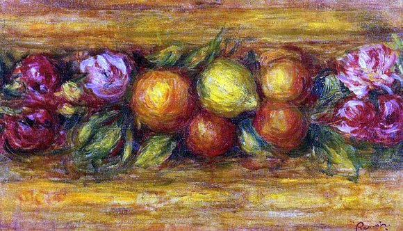 Pierre Auguste Renoir Garland of Fruit and Flowers - Canvas Art Print