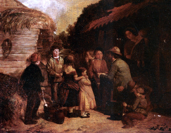 William Hemsley Gathering Round - Canvas Art Print