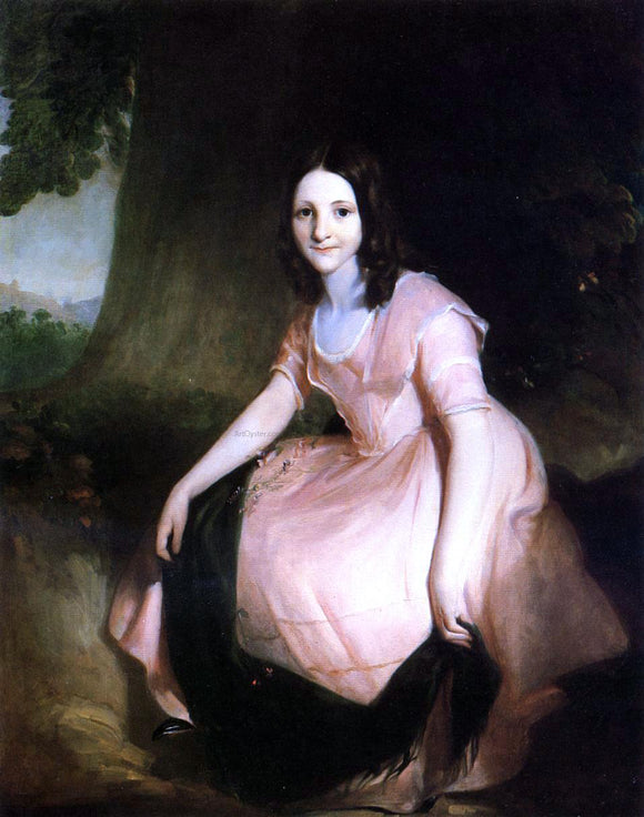 Thomas Sully Girl in Pink - Canvas Art Print